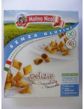 Molino Nicoli gluténmentes csokoládés-mogyorós krémmel töltött reggelizőpehely 300g (2210)